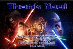 Personalised Star Wars Thank You Cards